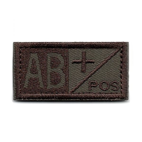 Wilde Passion Airsoft Morale Patch 1 Wilde Passion Blood Type AB Positive POS Badge - Embroidered Morale Military Patch