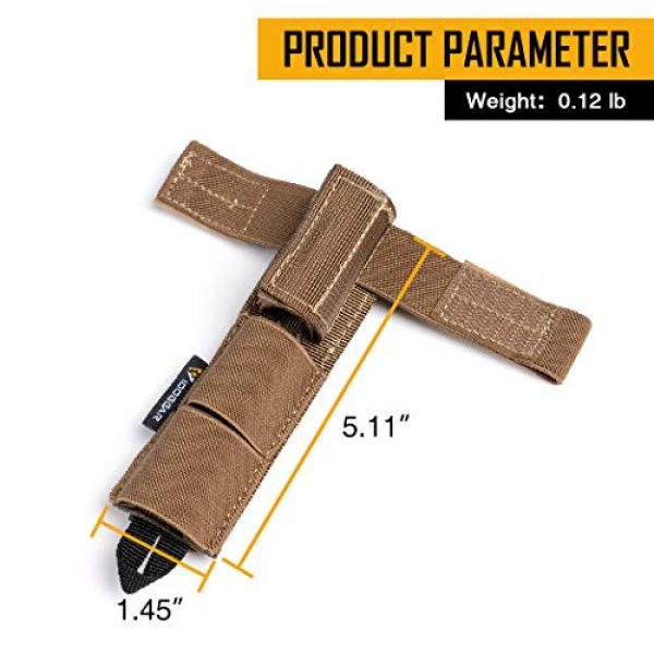 IDOGEAR Tactical Pouch 4 IDOGEAR Tactical Radio Antenna System Relocation Pouch Molle Pouch for PRC152 PRC148 MBITR