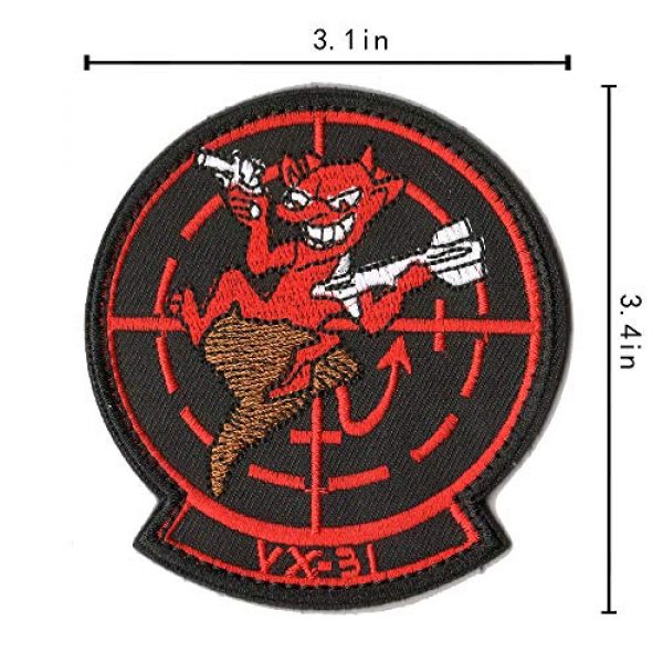 WZT Airsoft Morale Patch 6 WZT 11 Pieces TOP Gun Tactical Morale Military Patch United States Navy Fighter Weapons School, American Flag, CV-61 USS Ranger 100 Centurion, Tom Cat, Pete Mitchell Maverick, VX-31, VF-1 Embroidered