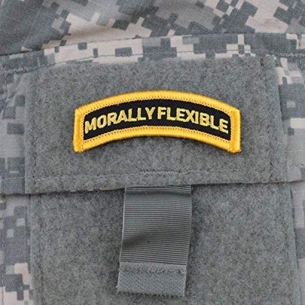 """Violent Little Machine Shop Airsoft Morale Patch 2 """"Morally Flexible"""" Morale Patch by Violent Little Machine Shop - Velcro"""