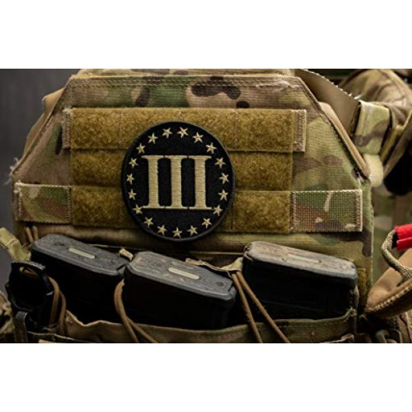 BASTION Airsoft Morale Patch 5 BASTION Morale Patches (Betsy Ross 3%, ACU)   3D Embroidered Patches with Hook & Loop Fastener Backing   Well-Made Clean Stitching   Military Patches Ideal for Tactical Bag, Hats & Vest