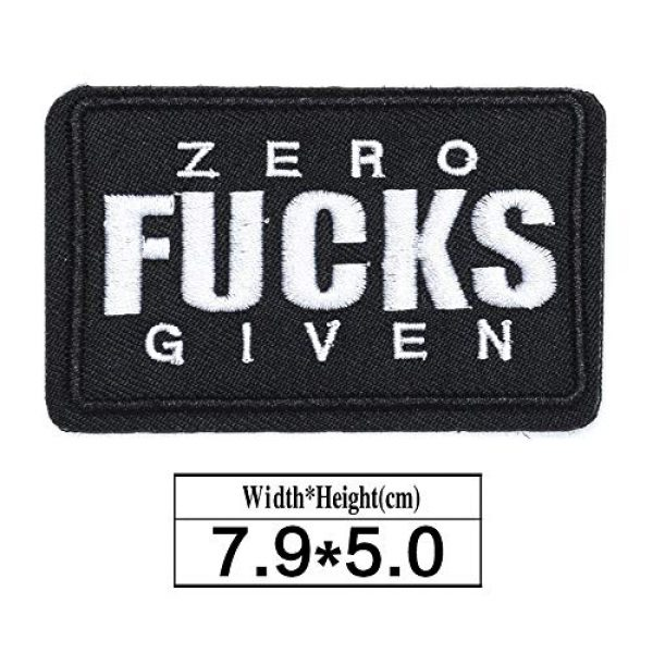 ZHDTW Airsoft Morale Patch 2 ZHDTW Tactical Morale Letter Patches Zero Given Fucks Decorative Patches with Hook Loop for Bags, Backpacks, Clothing (DT054)