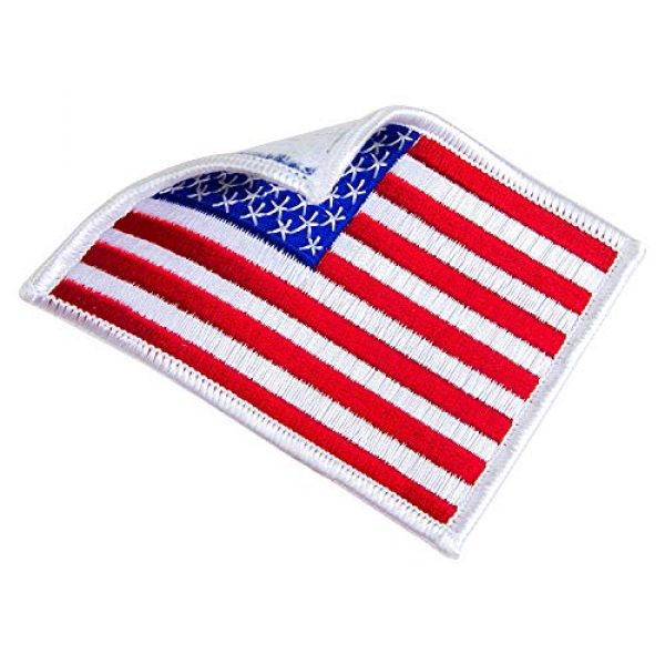 WAYDA Airsoft Morale Patch 4 WAYDA 4Pack American Flag Patch, Iron On or Sew On Uniform Emblem, American Flag Morale Hook Patch (10)