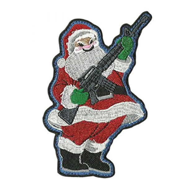 Gadsden and Culpeper Airsoft Morale Patch 1 Evil Santa AR-15 Tactical Morale Patch
