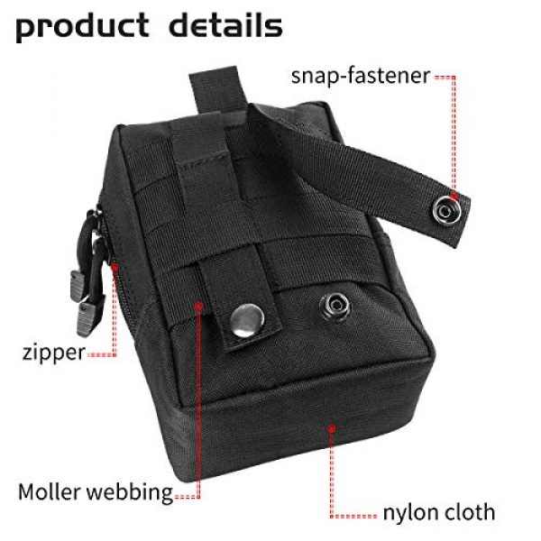 IronSeals Tactical Pouch 4 IronSeals Tactical Molle Pouch Multi-Purpose Compact Pack Water-Resistant Utility EDC Pouch with Flag Patch