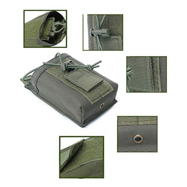 """abcGoodefg Tactical Pouch 3 abcGoodefg 1000D Adjustable Molle Tactical Pouch Radio Holster Case Walkie Talkie Holder Duty Belt, 5.3""""x 3.5""""x 1.6"""" (Amy Green)"""