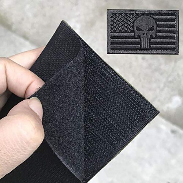 Bonng Airsoft Morale Patch 5 Bundle 14 Packs USA Flag Patches Thin Blue Line Tactical Military Morale Velcro Patch Set Morale Patches Set for Caps,Bags,Backpacks,Tactical Vest,Military Uniforms (color2)