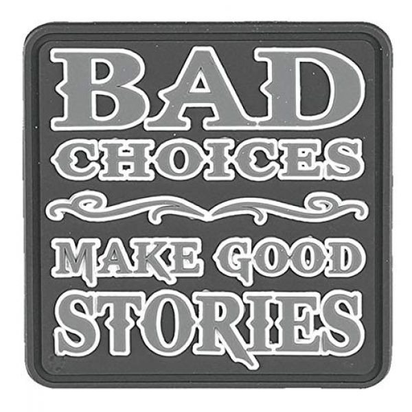 """Tru-Spec Airsoft Morale Patch 1 5ive Star Gear 6688 Bad Choices Make Good Stories Morale Patch, 2.5"""" x 2"""""""