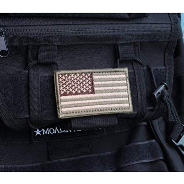 CREATRILL Airsoft Morale Patch 3 Bundle 6 Pieces Tactical Military Patch Set (Tan)