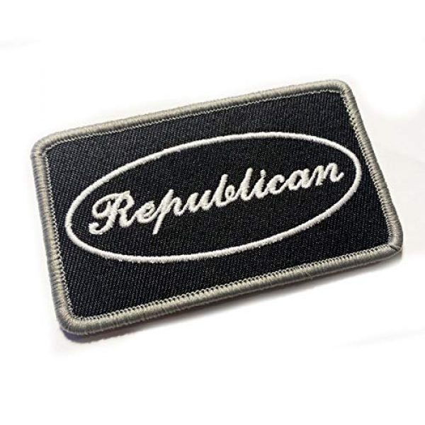 """Empire Tactical USA Airsoft Morale Patch 1 Republican 3.5"""" x 2"""" Embroidered Morale Patch (Hook and Loop)"""