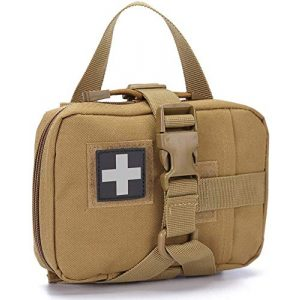 VIIDOO Tactical Pouch 1 VIIDOO Military Tactical MOLLE First Aid Pouch Empty, MOLLE Belt Medical IFAK Rip Away EMT Pouch, Blowout First Aid Bag Only