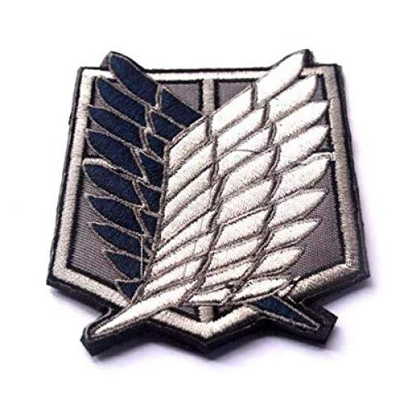 Embroidered Patch Airsoft Morale Patch 4 4pc Attack on Titan 3D Tactical Patch Military Embroidered Morale Tags Badge Embroidered Patch DIY Applique Shoulder Patch Embroidery Gift Patch