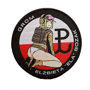 Generic Airsoft Morale Patch 1 Polish GROM Ela Pinup Six Siege Soldier Rainbow Logo Military Hook Loop Tactics Morale Woven Patch