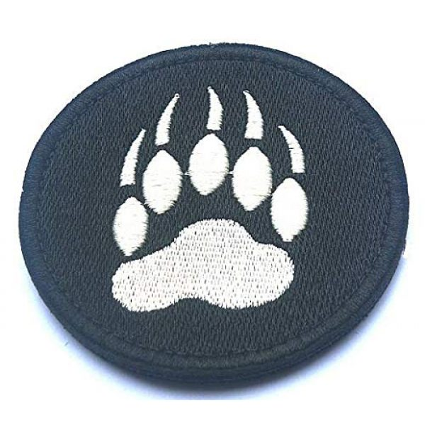 Embroidery Patch Airsoft Morale Patch 1 Bear Claw Tracker PAW Military Hook Loop Tactics Morale Embroidered Patch