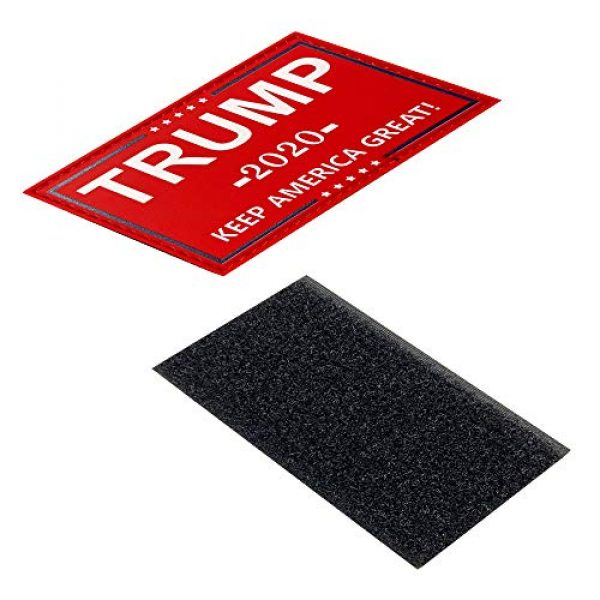 HSQ Airsoft Morale Patch 3 HSQCEZ US Donald Trump Flag Patch with Velcro,red President 2020 Keep America Great Flags Tactical PVC Hook Patch,Tactical Patch Pride Flag Velcro Patch for Clothes Hat Patch Team Military Patch