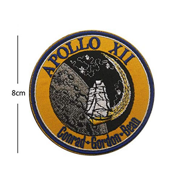 Zhikang68 Airsoft Morale Patch 4 18 PCS NASA Apollo Mission Patch Set 1,7,8,9,10,11,12,13,14,15,16,17,133,134,135 Space Patches 60th Annivers Embroidered Costume Applique Sew On Motorcycle Emblem for Travel Backpack Hats Jackets