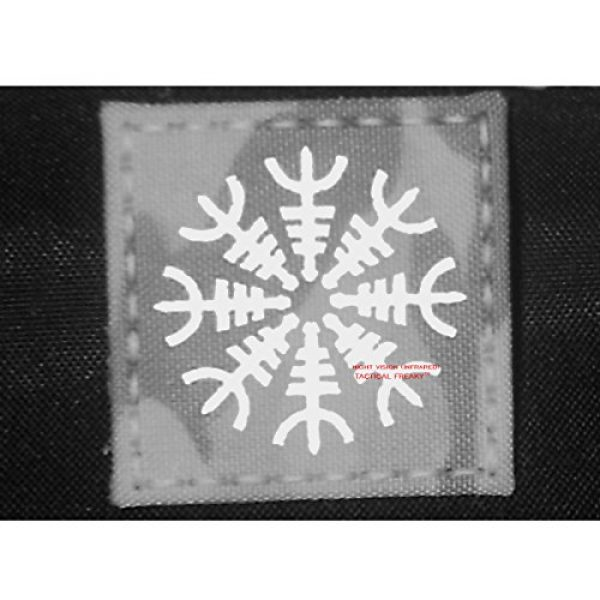 Tactical Freaky Airsoft Morale Patch 3 Multicam Infrared IR Aegishjalmur Helm of Awe Viking Norse 2x2 IFF Tactical Morale Hook&Loop Patch