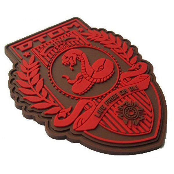 F-Bomb Morale Gear Airsoft Morale Patch 2 Don't Tread On Me (DTOM) PVC Morale Patch