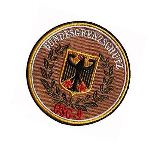 Embroidery Patch Airsoft Morale Patch 3 Germany Eagle German Bundesgrenzschutz GSG9 Military Hook Loop Tactics Morale Embroidered Patch