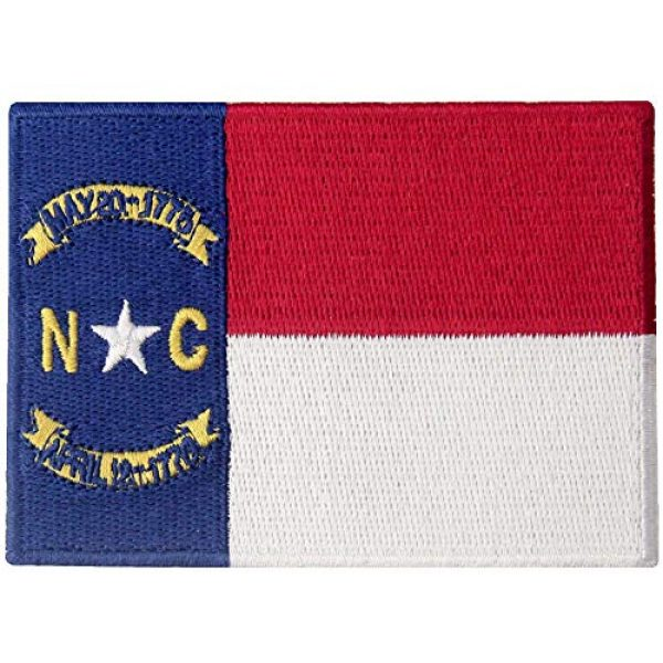 EmbTao Airsoft Morale Patch 1 North Carolina State Flag Patch NC Embroidered Applique Iron On Sew On Emblem
