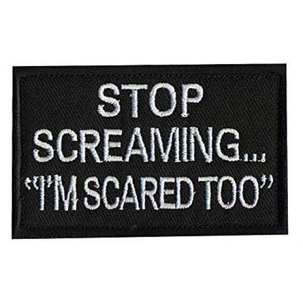 Embroidery Patch Airsoft Morale Patch 1 Stop Screaming I'm Scared Too,Military Hook Loop Tactics Morale Embroidered Patch