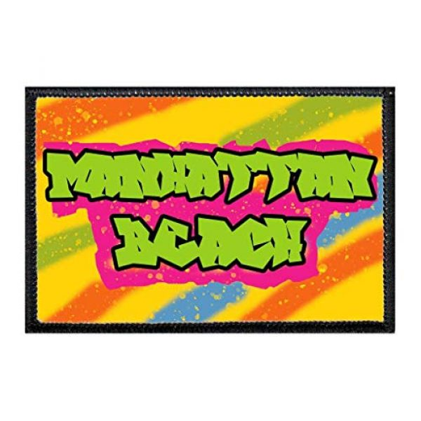 P PULLPATCH Airsoft Morale Patch 1 Manhattan Beach - Fresh Prince Morale Patch   Hook and Loop Attach for Hats, Jeans, Vest, Coat   2x3 in   by Pull Patch