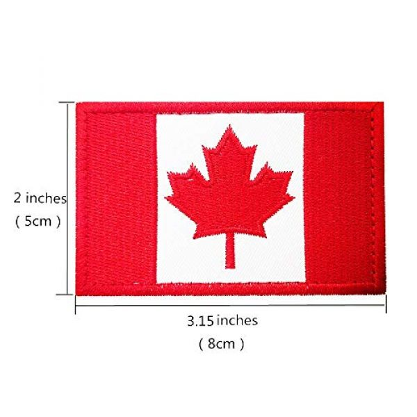 Heyqie Airsoft Morale Patch 4 2 Pieces Canada Flag Patches, Canadian Flag Patch 3.1 X 2.0 Inch Velcro Patches Morale Military Uniform Emblem Patch Iron-on Patch for Tactical Backpacks Bags Clothes Jackets Hats