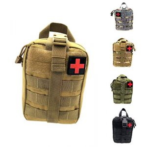 Miyha Tactical Pouch 1 MOLLE Tactical Rip-Away EMT Medical First Aid IFAK Blowout Pouch (Bag Only)