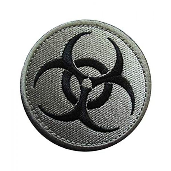 Embroidery Patch Airsoft Morale Patch 3 Resident Evil Biohazard Symbol Zombie Military Hook Loop Tactics Morale Embroidered Patch