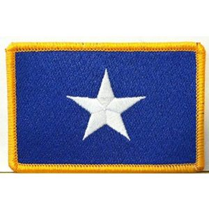 Fast Service Designs Airsoft Morale Patch 1 Bonnie Blue Flag Patch Texas Star Southern Patch with Hook & Loop Morale Patriotic USA Shoulder Emblem Gold Border Version #36