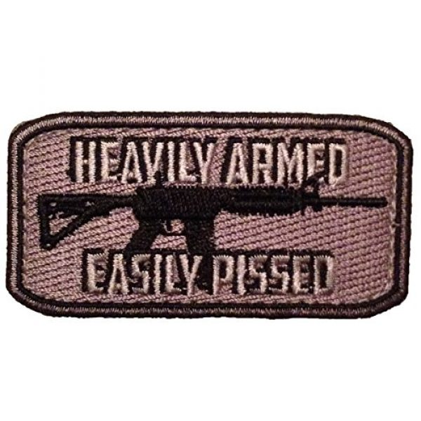 F-Bomb Morale Gear Airsoft Morale Patch 1 Heavily Armed - Easily Pissed Embroidered Morale Patch