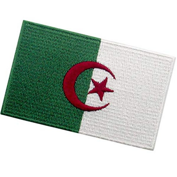 EmbTao Airsoft Morale Patch 4 EmbTao Algeria Flag Patch Embroidered National Morale Applique Iron On Sew On Algerian Emblem
