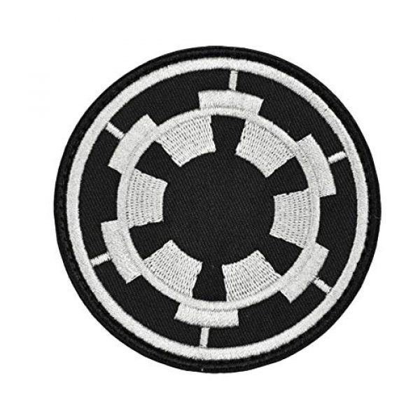 JFFCE Airsoft Morale Patch 1 Star Wars Morale Patch Tactical Military Morale Patches (Black/Gray)