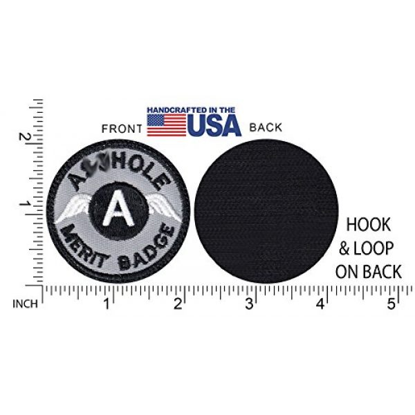 Tactical Patch Works Airsoft Morale Patch 5 A-hole Merit Badge Patch