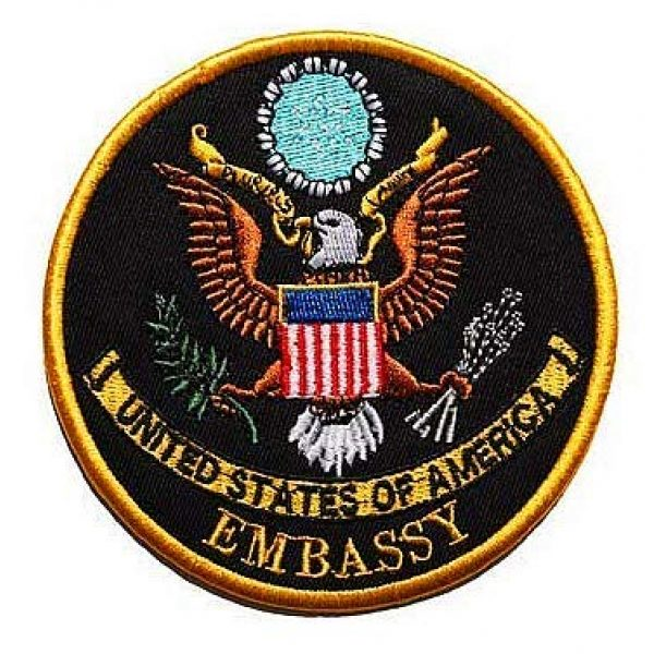 Embroidery Patch Airsoft Morale Patch 1 US Embassy Seal of The President Military Hook Loop Tactics Morale Embroidered Patch