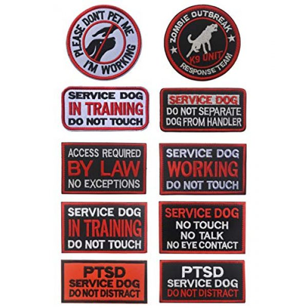 WUXL Airsoft Morale Patch 6 WUXL Patch Service Dog Access Required by Law No Exceptions Vests/Harnesses Emblem Embroidered Fastener Hook & Loop PatchService Dog -by Law
