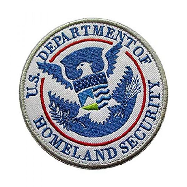 Embroidery Patch Airsoft Morale Patch 2 DEPT of Homeland Security Military Hook Loop Tactics Morale Embroidered Patch