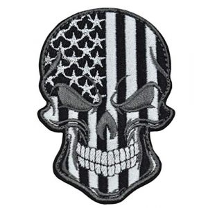 JFFCE Airsoft Morale Patch 1 Tactical Military Morale Patch Best Quality Embroidered Skull Flag Patches Perfect for Hats Jackets Backpacks Collect(Black)
