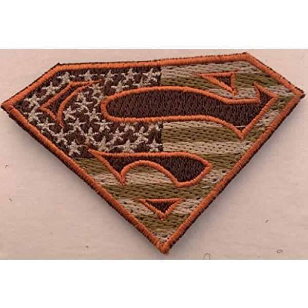 Equinox MR Airsoft Morale Patch 6 Bundle 2 pieces - American Superman large Patches Military Colors