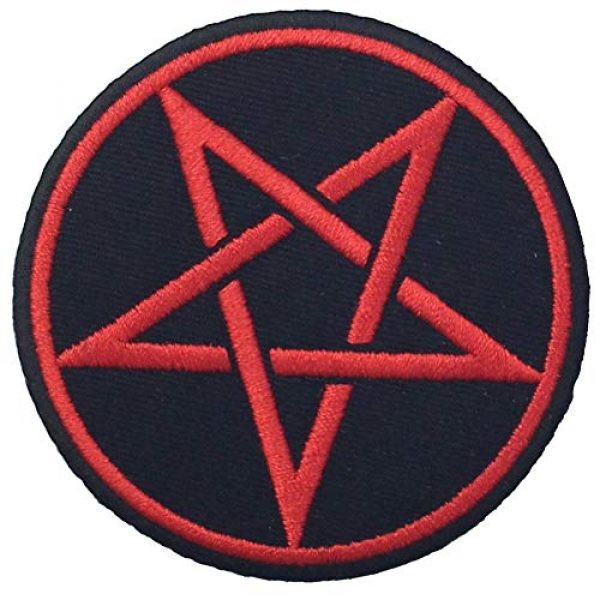 EmbTao Airsoft Morale Patch 4 Goth Pagan Symbols Pentagram Patch Embroidered Appique Iron On Sew On Emblem
