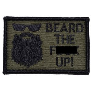 Tactical Gear Junkie Airsoft Morale Patch 1 Beard The F Up 2x3 Patch - Olive Drab