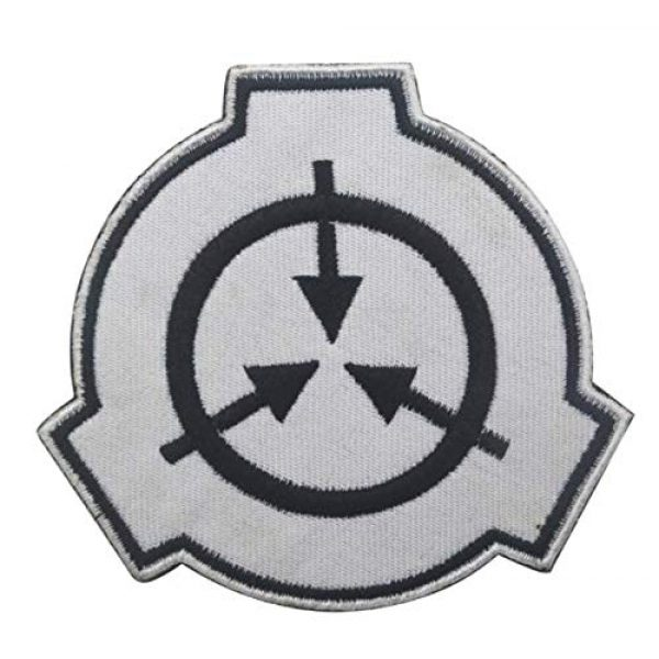 Embroidered Patch Airsoft Morale Patch 3 2pc Special Containment Procedures Foundation SCP Foundation Logo 3D Tactical Patch Military Embroidered Morale Tags Badge Embroidered Patch DIY Applique Shoulder Patch Embroidery Gift Patch