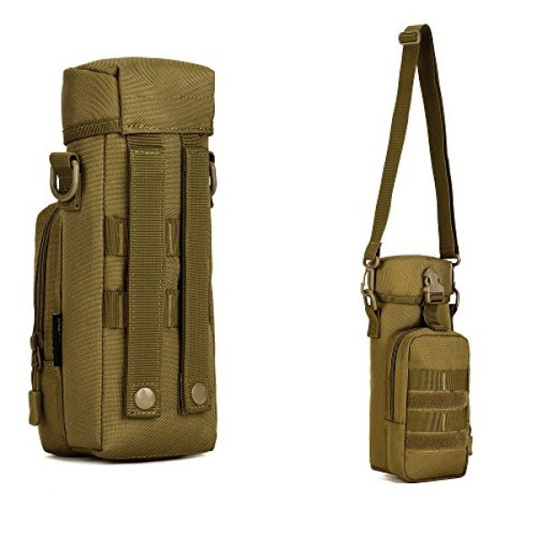 ArcEnCiel Tactical Pouch 6 ArcEnCiel Molle Water Bottle Pouch Tactical Military Kettle Set Holder Hydration Bag Carrier Pocket for Camping Climbing Cycling Hiking Travelling