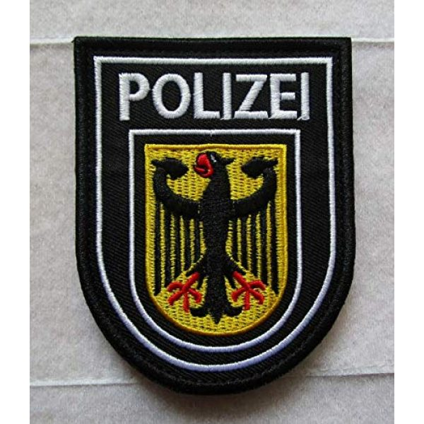 Embroidered Patch Airsoft Morale Patch 1 German Imperial Germany Polizei Eagle Flag 3D Tactical Patch Military Embroidered Morale Tags Badge Embroidered Patch DIY Applique Shoulder Patch Embroidery Gift Patch