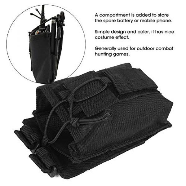 Rosvola Tactical Pouch 7 Rosvola Waterproof Walkie-Talkie Holder, with Snap Buckles Intercom Bag, Walkie-Talkie Bag, Wear-Resistant and Durable Simple Design and Color Black for Security Office
