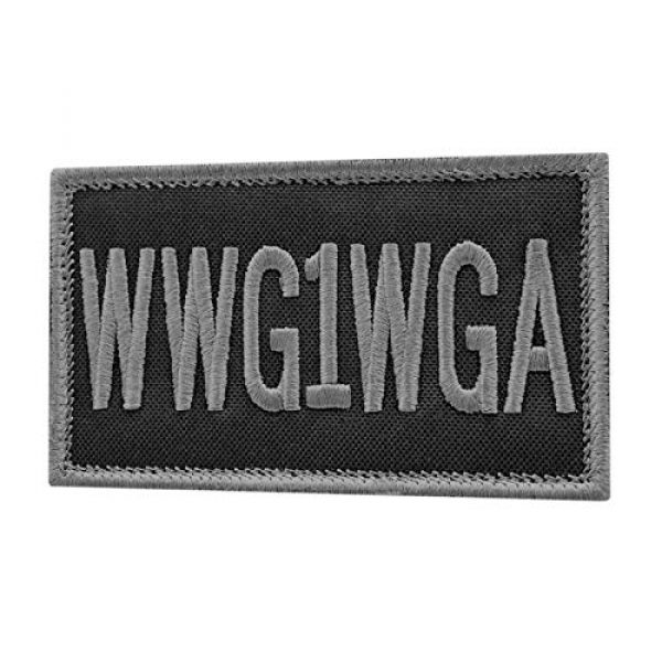 LEGEEON Airsoft Morale Patch 1 LEGEEON WWG1WGA Blackout 2x3.25 Subdued Where We Go One All Morale Fastener Cap Patch