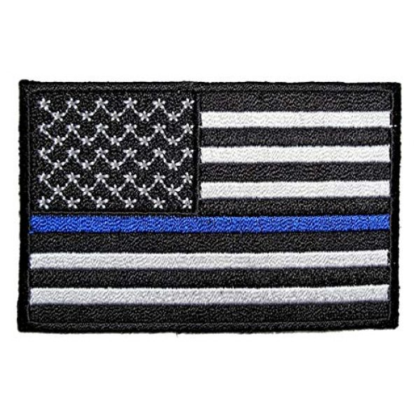 ASA Techmed Airsoft Morale Patch 2 ASA Techmed 4 Pack US USA Flag Embroidered Patch Thin Blue Line Police Emblem Military Iron On Sew On Tactical Morale Patch for Hats Backpacks Caps Jackets + More