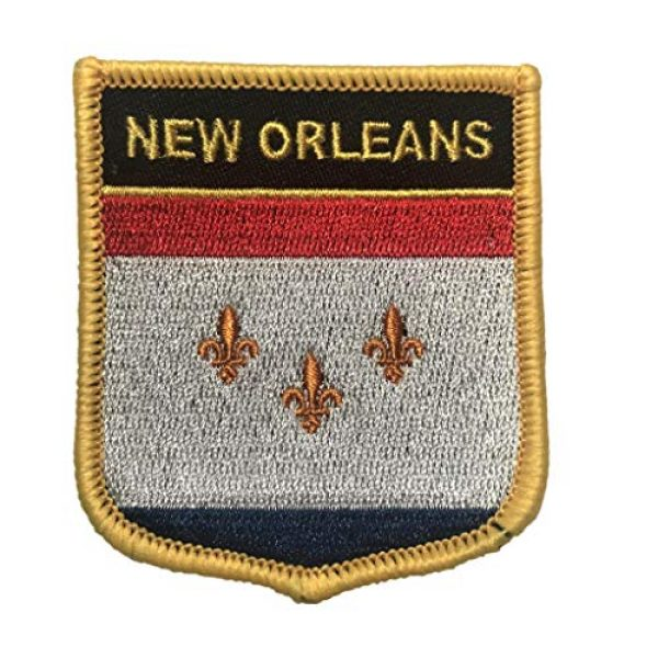 Backwoods Barnaby Airsoft Morale Patch 1 New Orleans (LA) Flag Shield Patch/Cities of Louisiana Crest Badge
