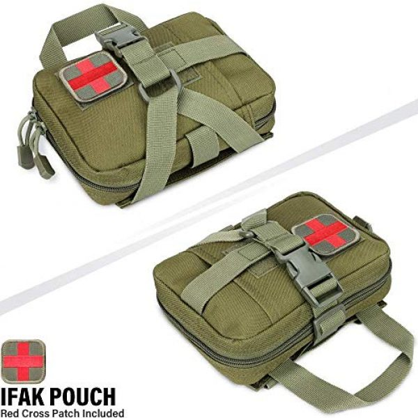 ACOMOO Tactical Pouch 5 ACOMOO Tactical Pouch Tear-Proof Molle Medical Pouch Tearable First Aid Kit, Emergency Bag for Outdoor Hiking