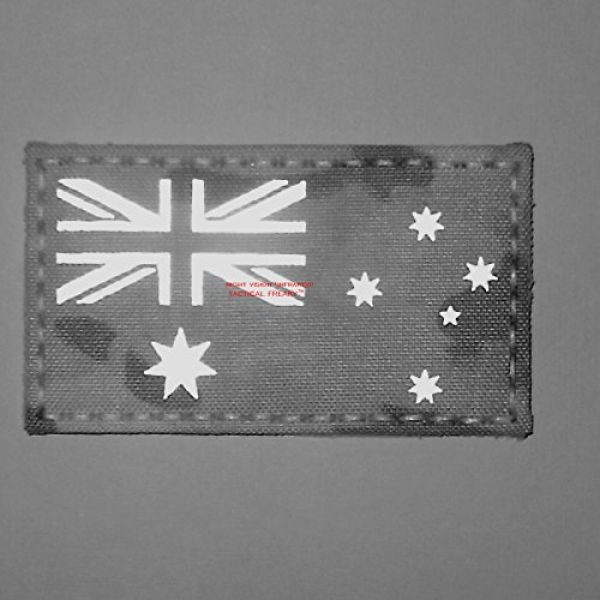 Tactical Freaky Airsoft Morale Patch 3 Australia Flag Multicam Infrared IR 3.5x2 IFF Tactical Morale Fastener Patch